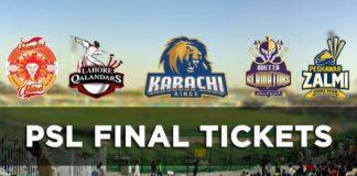 PSL Final Tickets information