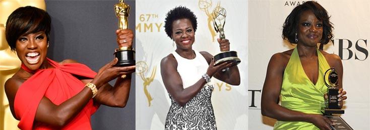 Viola Davis Wins Oscar as First Black Actress