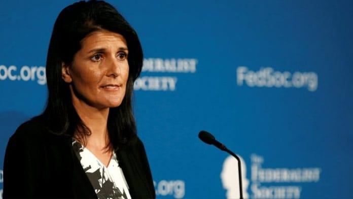 Nikki Halley, the US ambassador