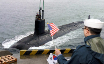 US Submarine Arrives Amid North Korean Missile Tests