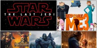 Top Five Box Office Movies of 2017