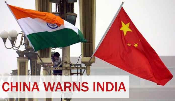 China Warns India Over Escalating Border Situation