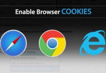 enable cookies