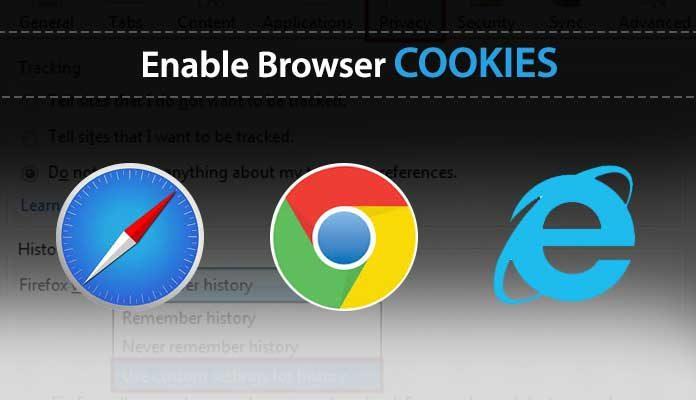 enable cookies