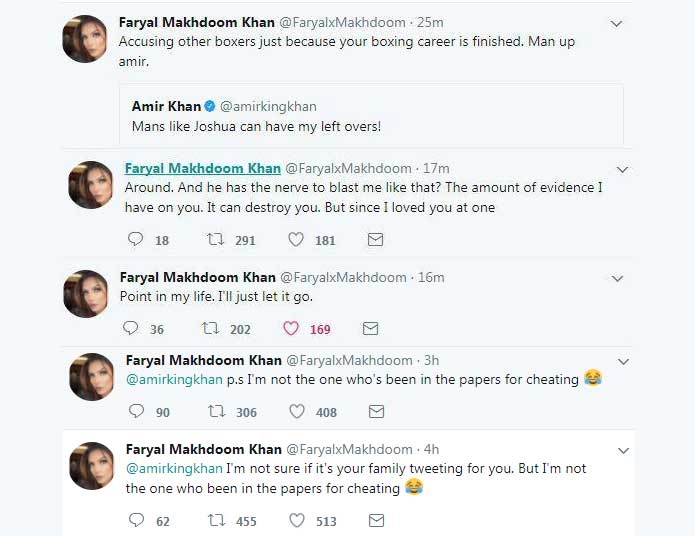 Amir Khan and Faryal Makhdoom Part Ways on Twitter