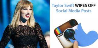 Taylor Swift Wipes Off Social Media Posts
