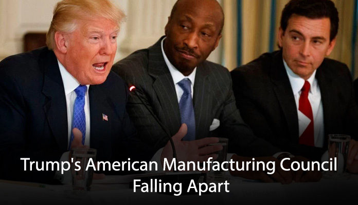 Trump's American Manufacturing Council Falling Apart