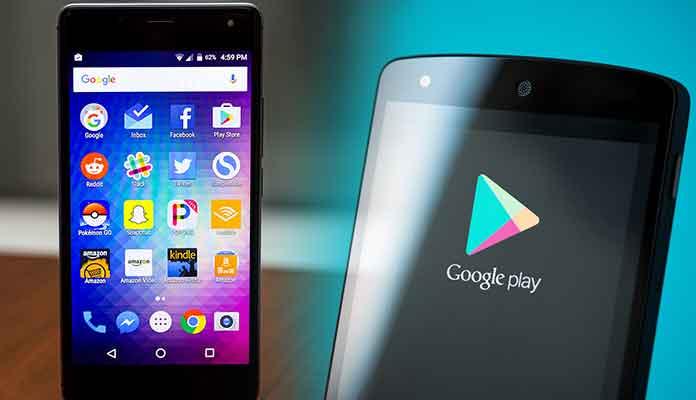Google play store lock screen