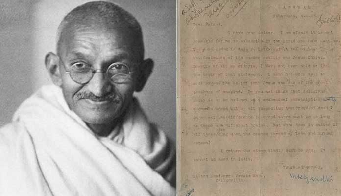 Mahatma Gandhi's Letter