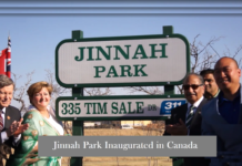Jinnah Park Inaugurated in Canada