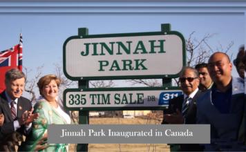 Jinnah Park Inaugurated in Canada