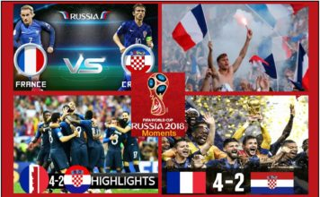 Moments Fifa world cup 2018 final