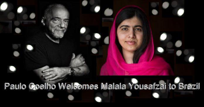 Paulo Coelho wecomes Malala Yousafzai