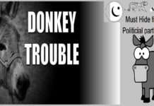 Political Hatred donkey victim