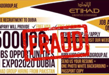 Etihad Group Fake Job Offers