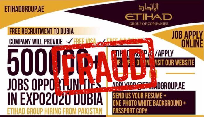 Etihad Group Fake Job Offers