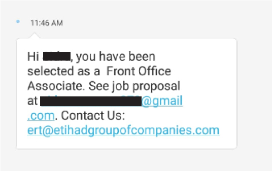 Etihad Group Jobs Scam