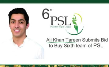 Ali Khan Tareen Sixth PSL Team