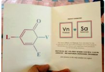 Chemistry Themed Wedding Card