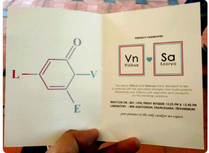 Chemistry Themed Wedding Card