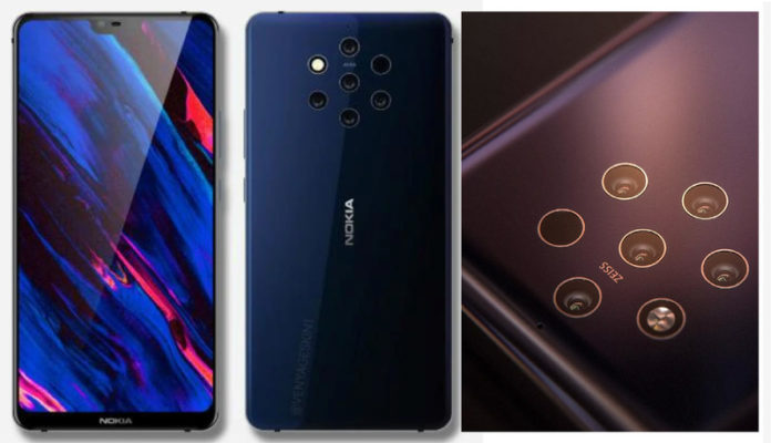 Nokia 9 with Five Rear Cameras