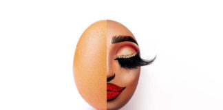 This Egg with Full Face Make-up Goes Viral