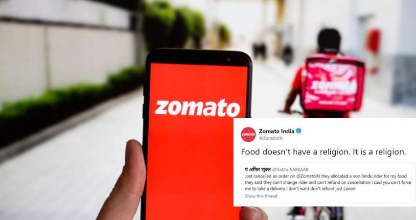 Zomato's Savage Reply to Its Racist Customer Goes Viral In India