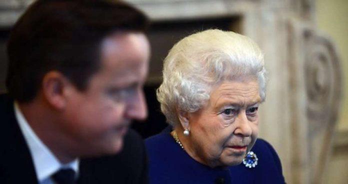 David Cameron with Queen