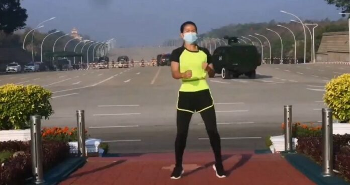 Viral video of dancing woman